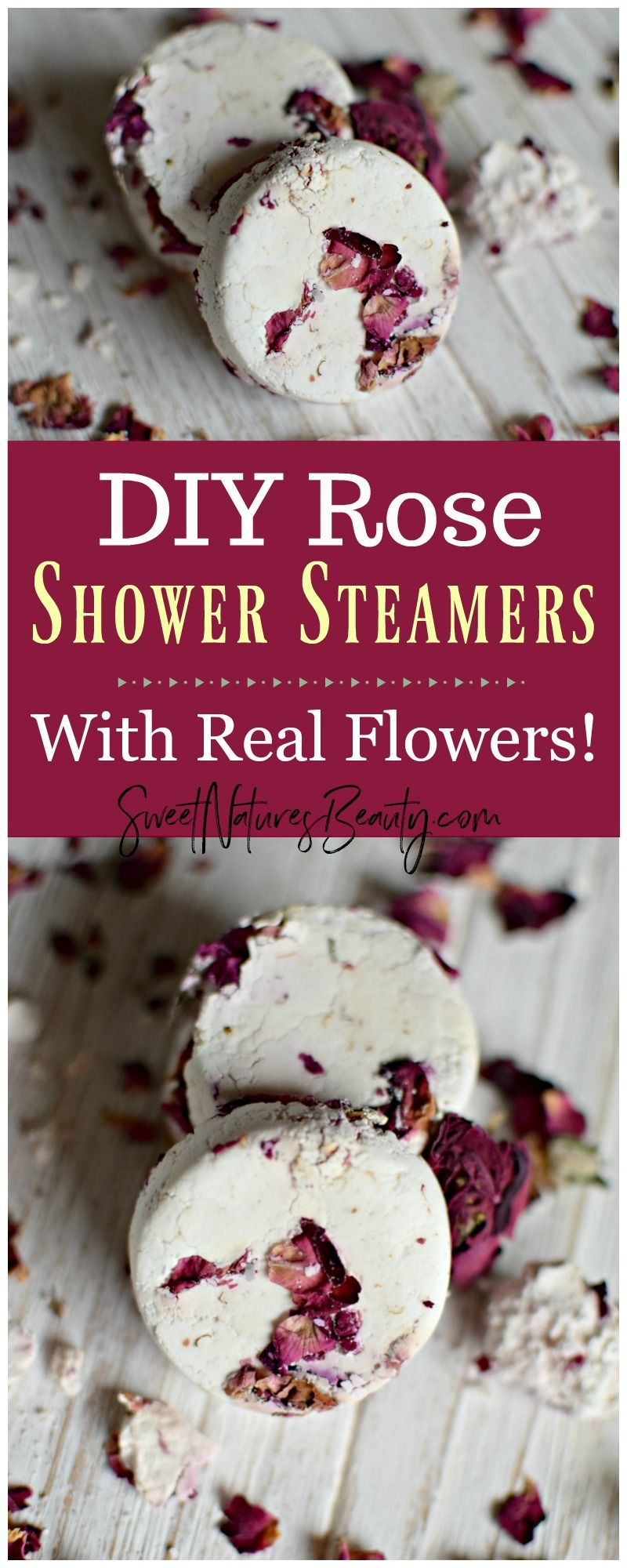 These Diy Rose Shower Steamers Use Essential Oils For Aromatherapy Click Through To Learn How To Make Diy Rose Sho Diy Roses Shower Steamers Diy Bath Products