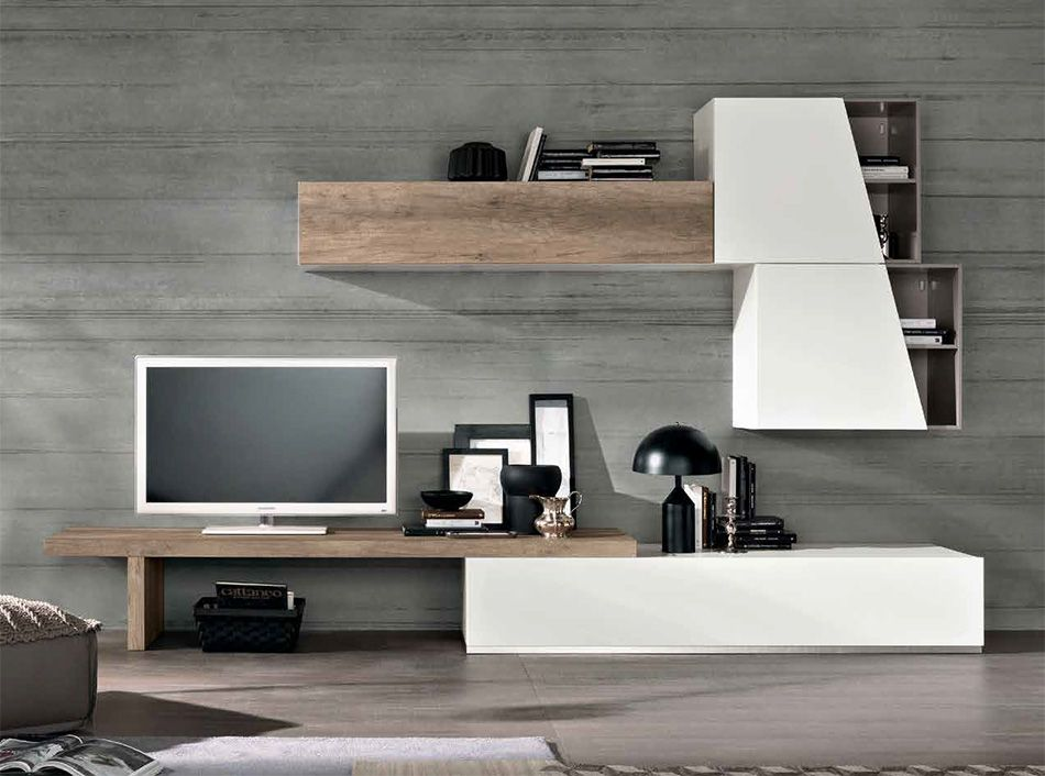 Soggiorni Moderni Spar.Wall Unit Entertainment Center Exential T06 By Spar