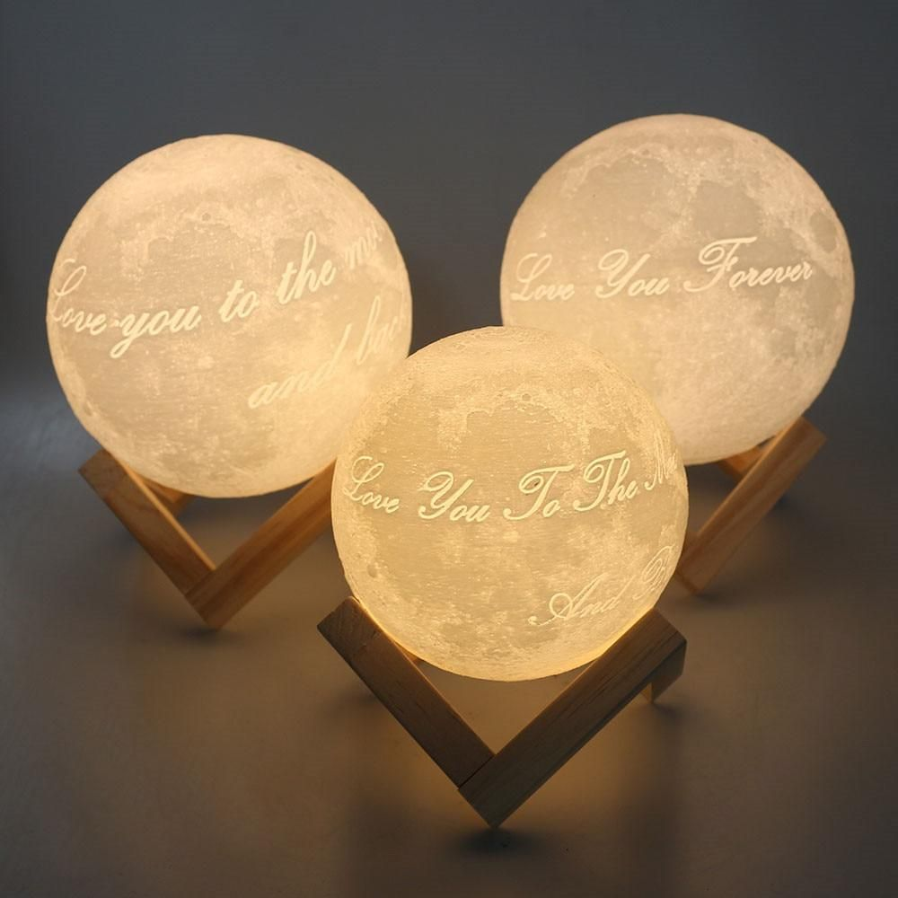 Custom 3d Photo Printed Moon Light Valentines Day Gifts Moon Light Lamp 3d Photo Valentine Gifts