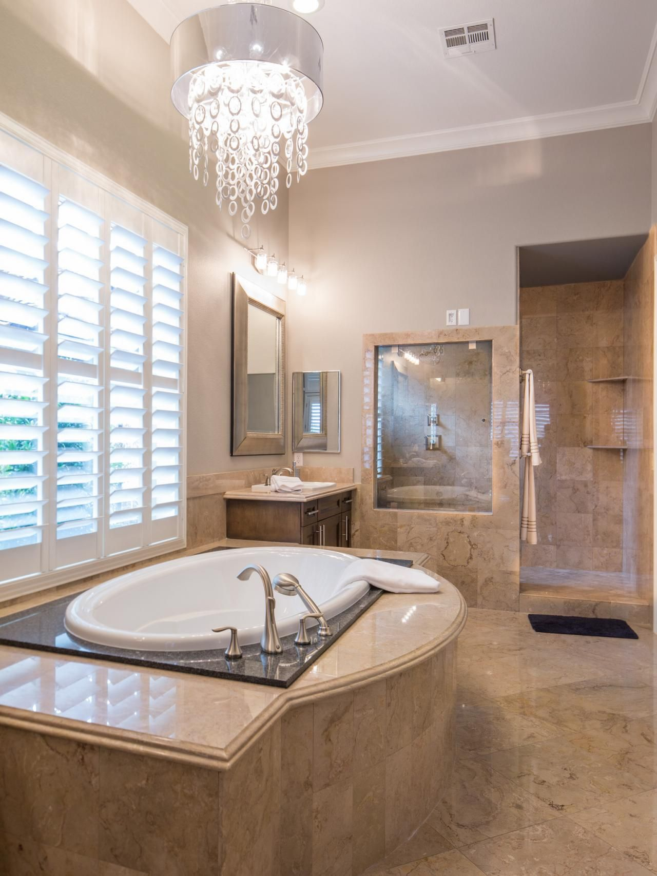 Before And After The Property Brothers Las Vegas Home Property Brothers At Home Property Brothers Luxury Master Bathrooms