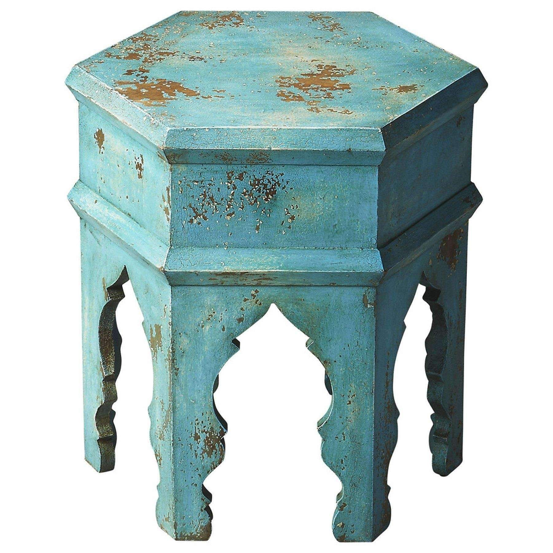 Tangiers Solid Wood Bunching Table Rustic End Tables