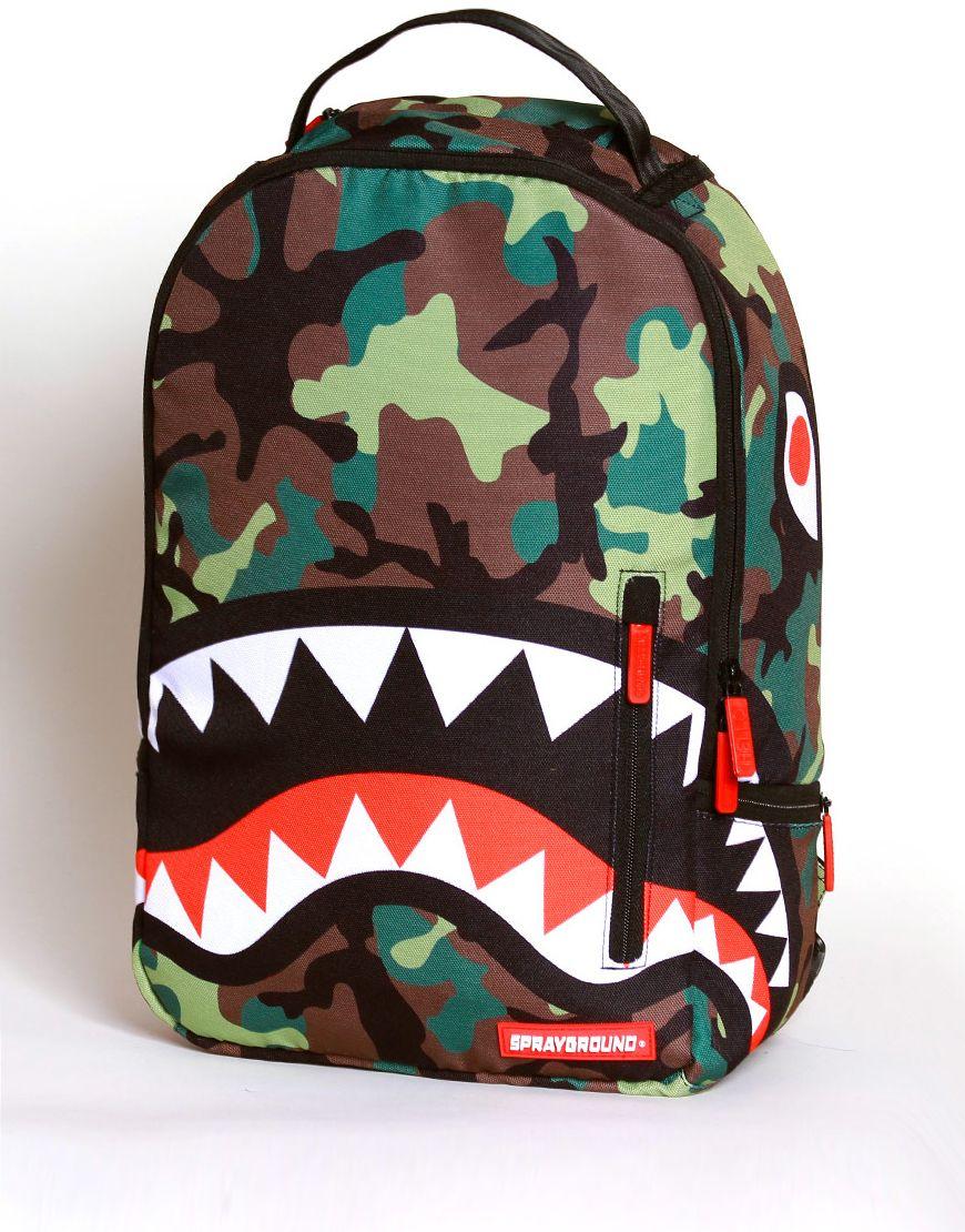bd76ad1261d5 Sprayground Shark Deluxe Backpack - Camo