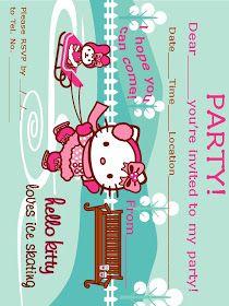 Hello Kitty Coloring Hello Kitty Ice Skating Hello Kitty Invitations Hello Kitty Colouring Pages Hello Kitty Themes