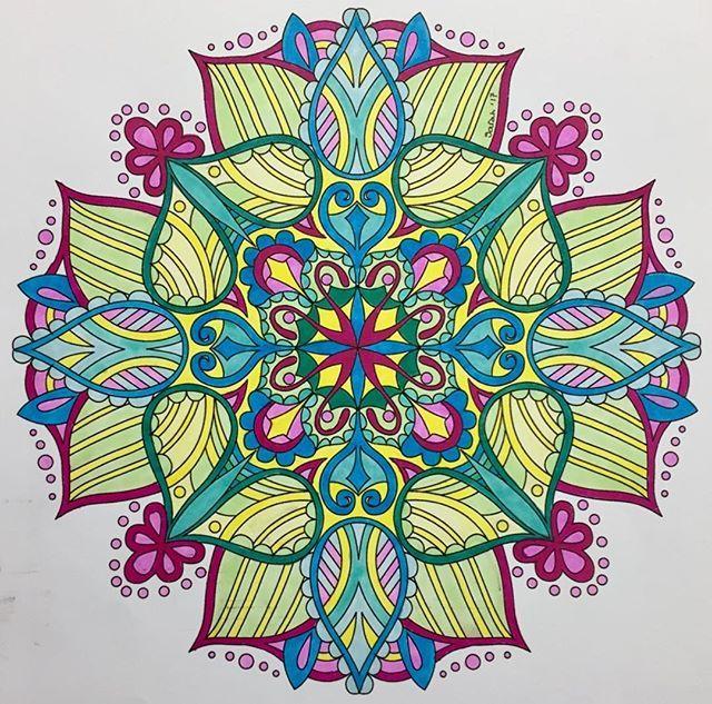 ColorIt Mandalas Volume 1 Colorist: Sarah B #adultcoloring #coloringforadults #mandalas #mandalastocolor