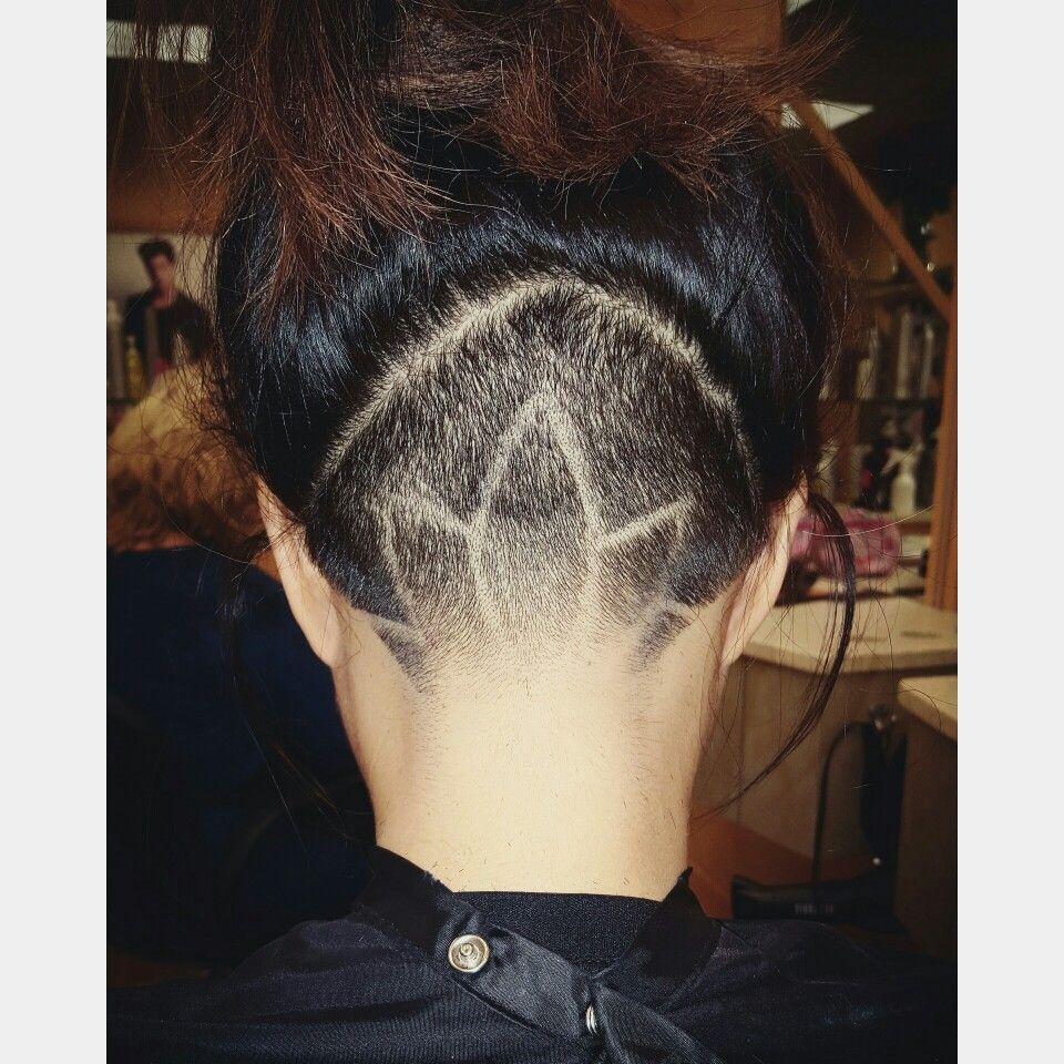 Undercut Lotus Flower Design Done By Kara Jenne Hair By Me