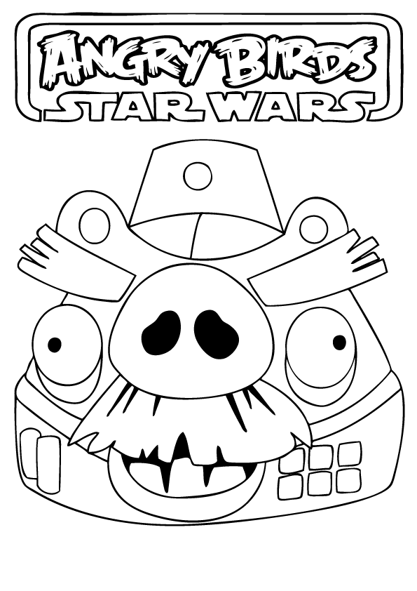 Angry Birds Star Wars Coloring Pages | Omalovánky | Pinterest ...