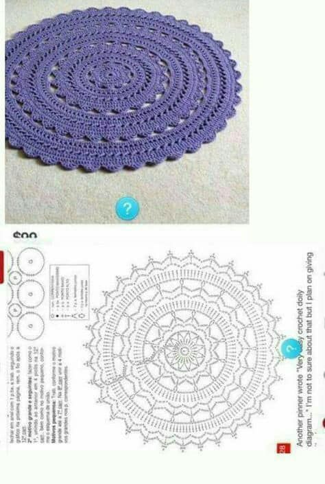 Luty Artes Crochet: Centro de mesa de crochê com gráfico | Mesa ...