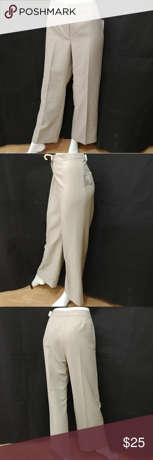 373313dc054 Beige · Kasper Separates Women s Summer Straw Dress Pants ...