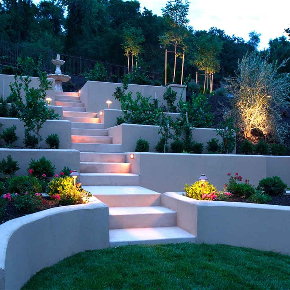 22 Incredible Ideas For A Relaxing Backyard Space Backyard Hill Landscaping Large Backyard Landscaping Sloped Backyard Landscaping