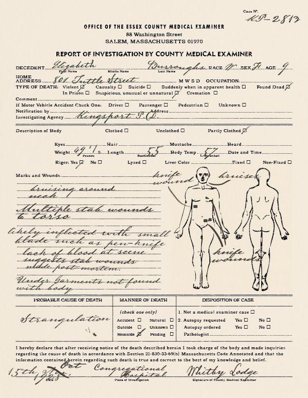 Résultats de recherche d\u0027images pour « autopsy report » 1947