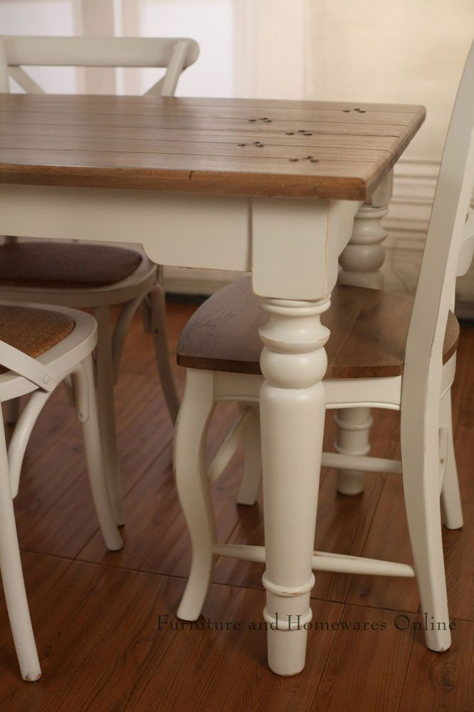 French Provincial Farmhouse Dining Table USA Oak Table