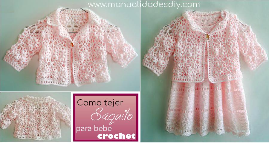 Un hermoso saquito o abrigo para bebé con estilo romántico para ...