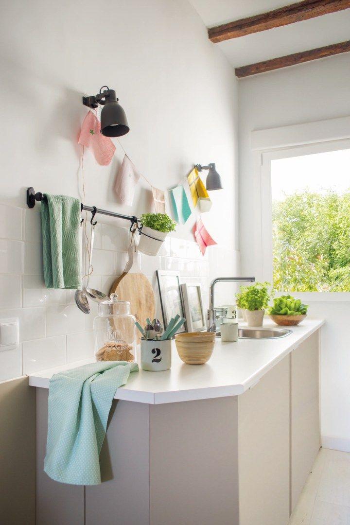 pisos pequeños mini casas mini aticos estilo nórdico madrid diseño - decoracion de espacios pequeos