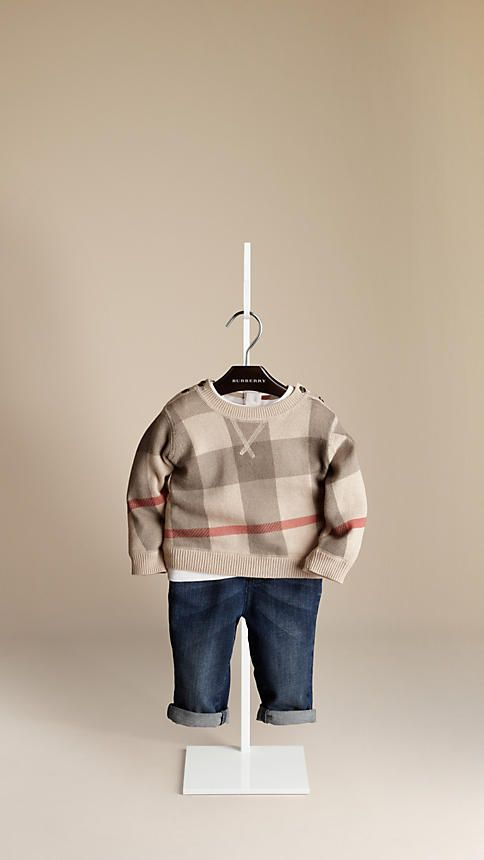 be85681cd Check Cotton Sweater