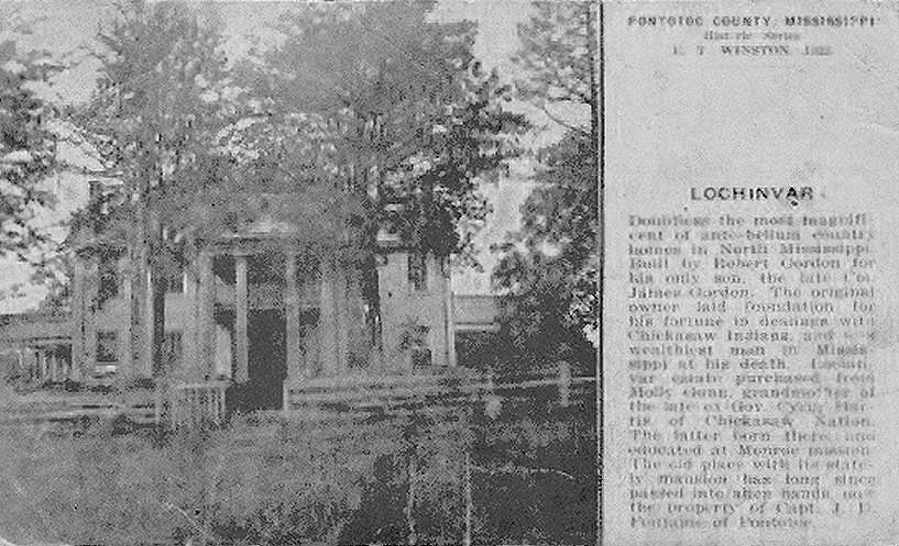 Lochinvar Pontotoc County Mississippi Pontotoc Mississippi Postcard