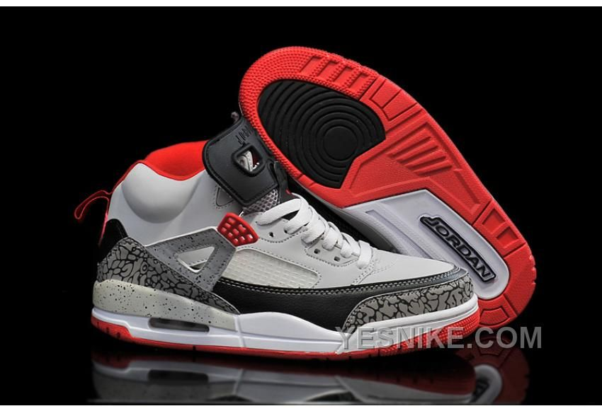 Big Discount 66 OFF Jordan Spizike Wolf Grey Gym RedBlack For Sale