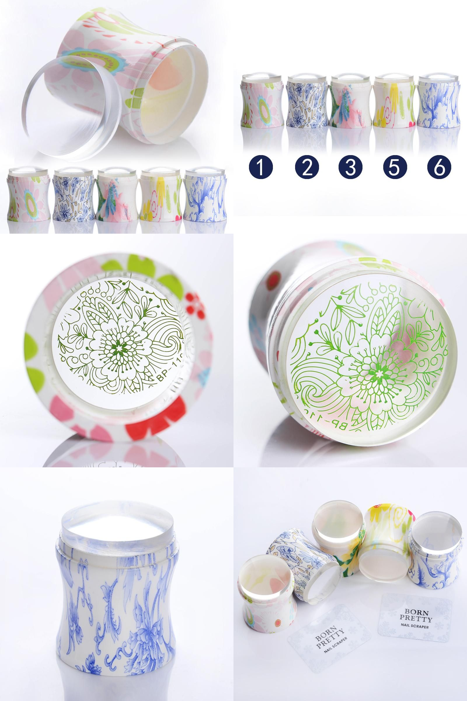 Visit to Buy] 1Pc 3.8cm XL Clear Jelly Nail Art Stamper Silicone ...