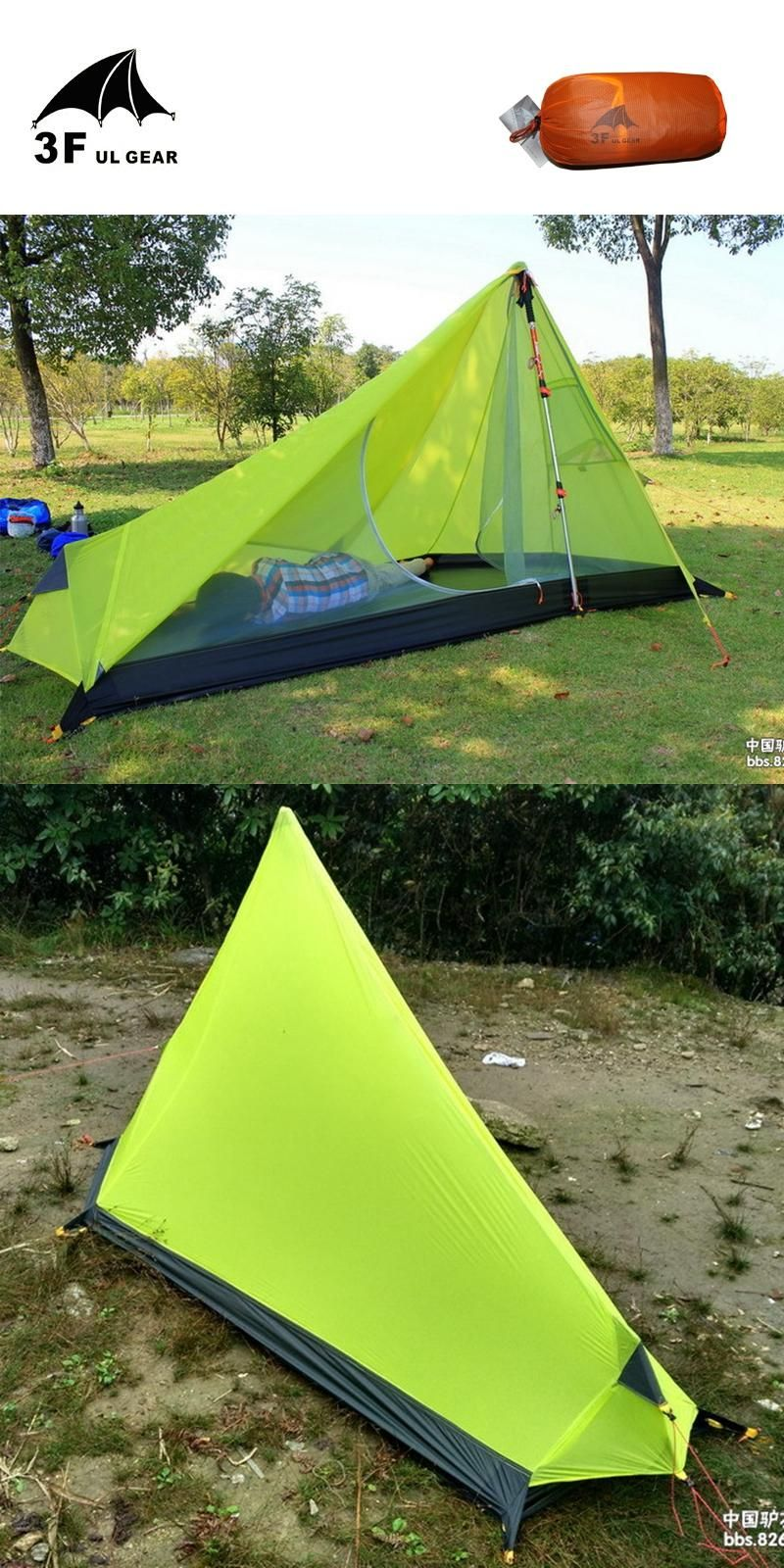 [Visit to Buy] 3F UL GEAR 1 Man Ultralight C&ing Tent Nylon Silicone 5000mm & Visit to Buy] 3F UL GEAR 1 Man Ultralight Camping Tent Nylon ...