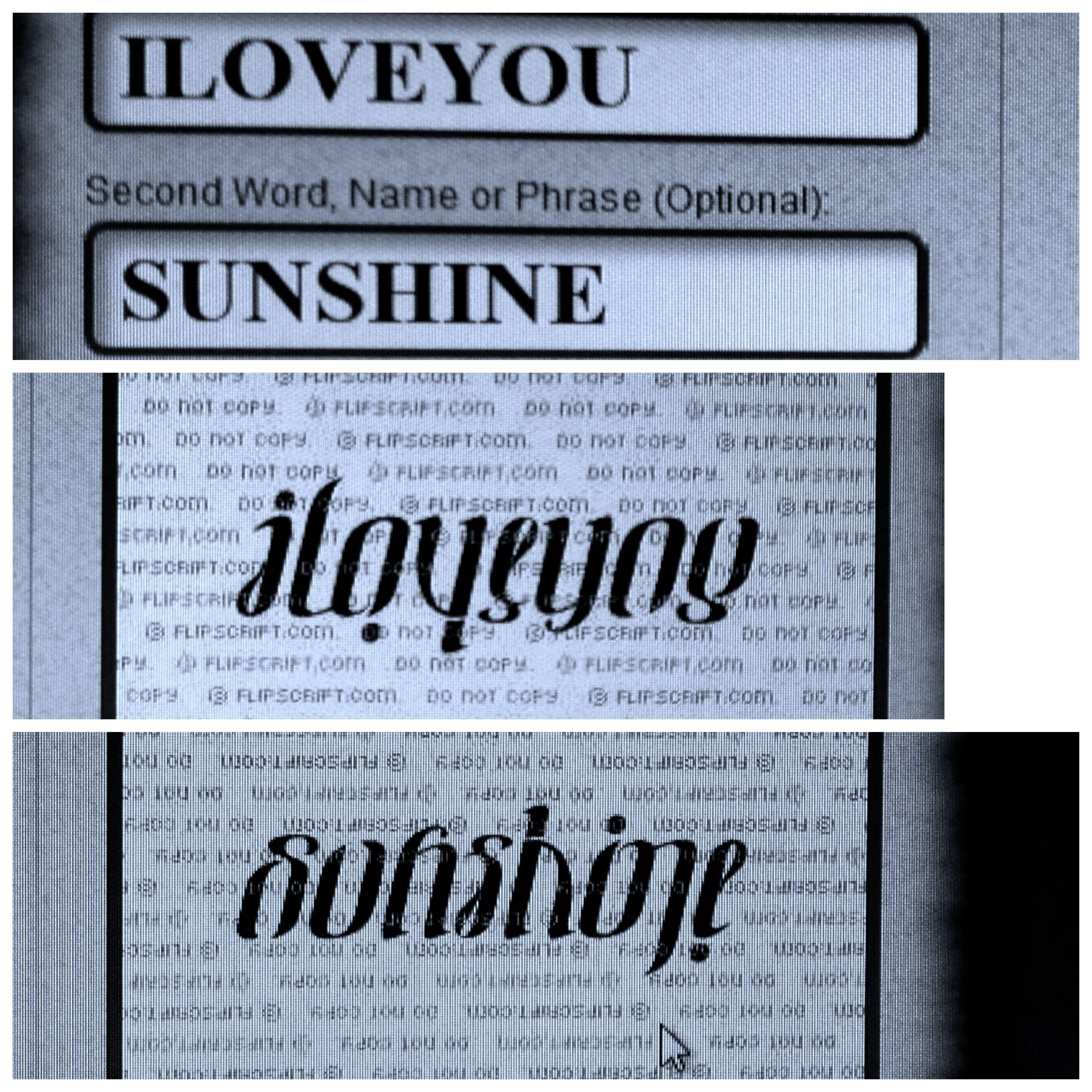 Iloveyou & Sunshine :)