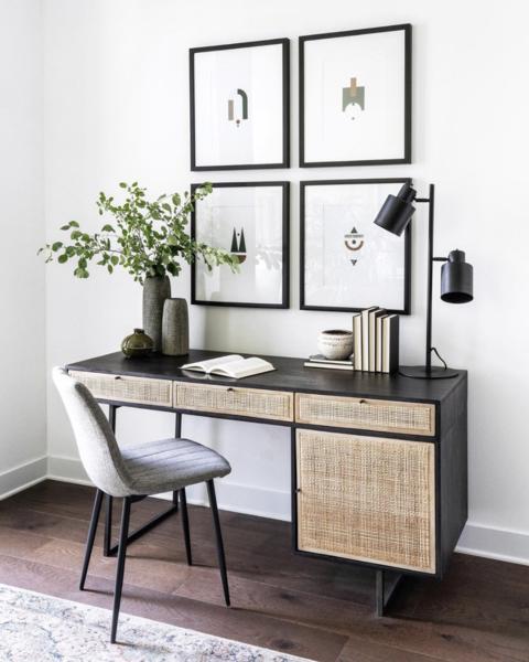 Ubud Desk Black Home Office Decor Home Office Space Leclair Decor