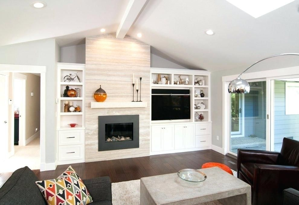 Image Result For Asymmetrical Built Ins Around Fireplace Built