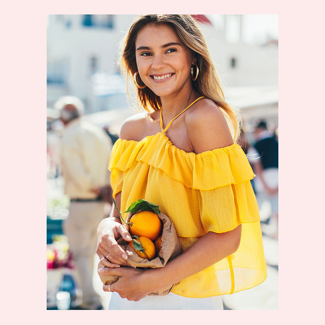"105.6k Likes, 206 Comments - H&M (@hm) on Instagram: ""Boost your summer energy! 🍋🍊@stefaniegiesinger #HM"""