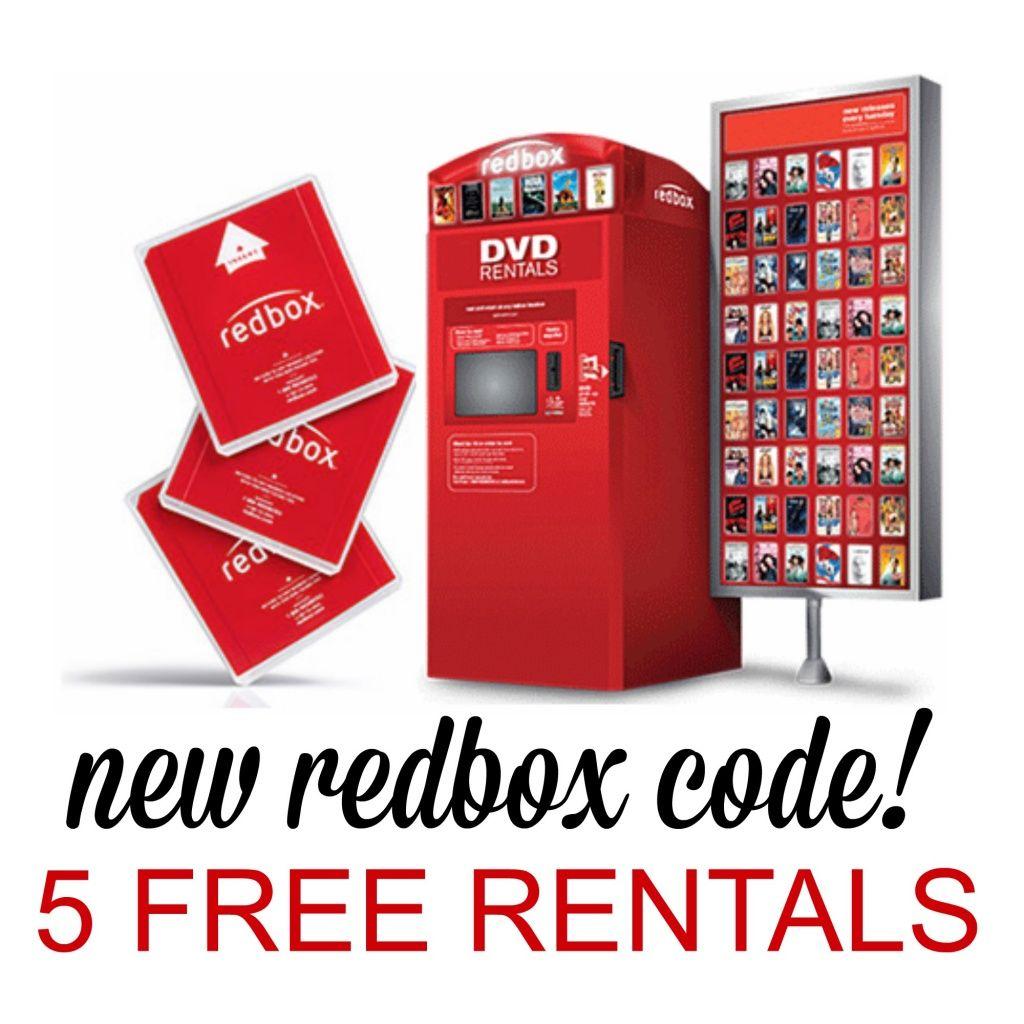 5 free redbox movie rentals Redbox, Free redbox, Movie