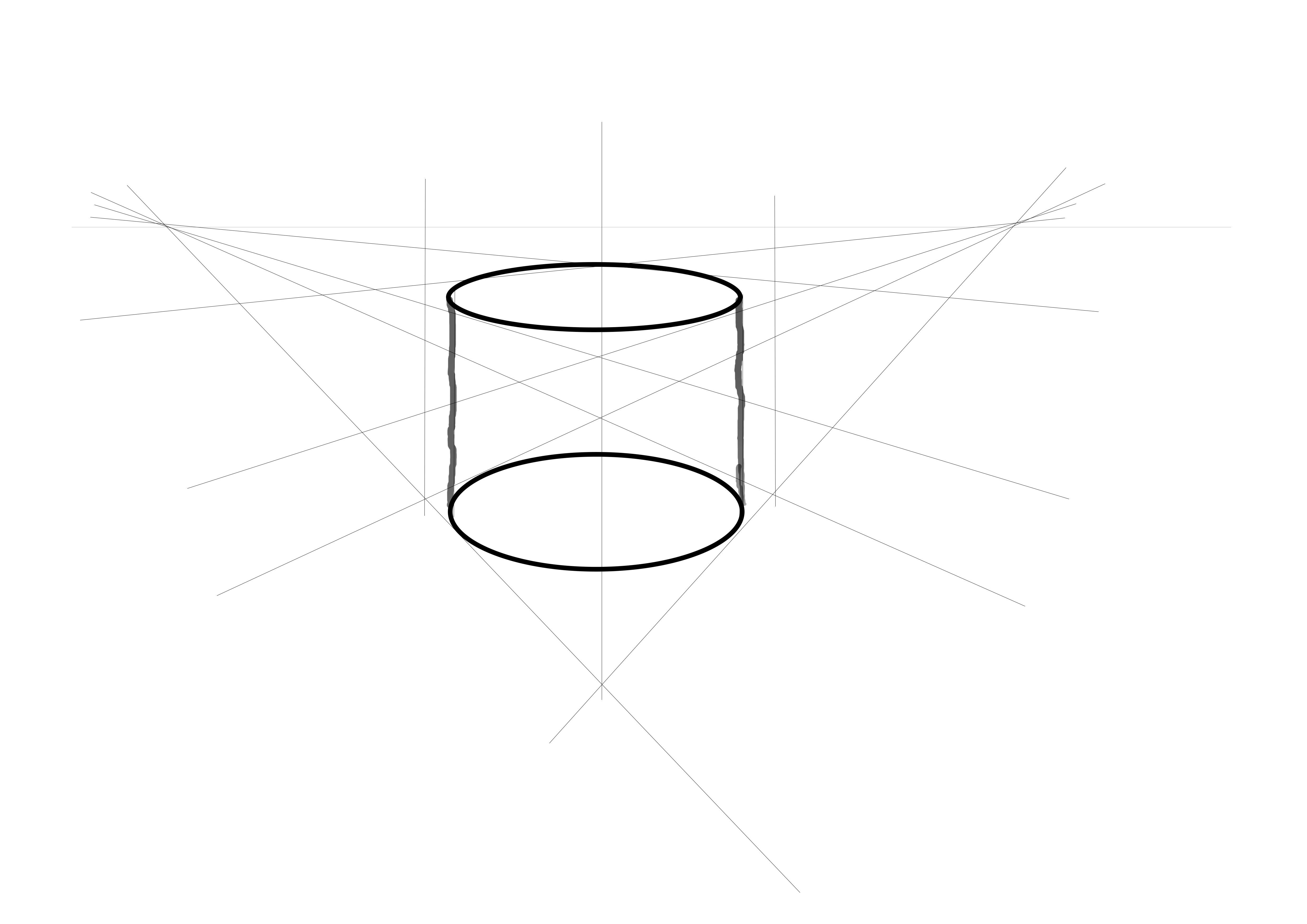 2 Point Perspective Cylinder