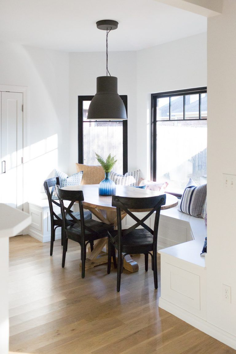 Perfect How To Design A Beautiful Kitchen Banquette Modern Farmhouse Black Dining  Room Chairs Oval Wood Pedestal
