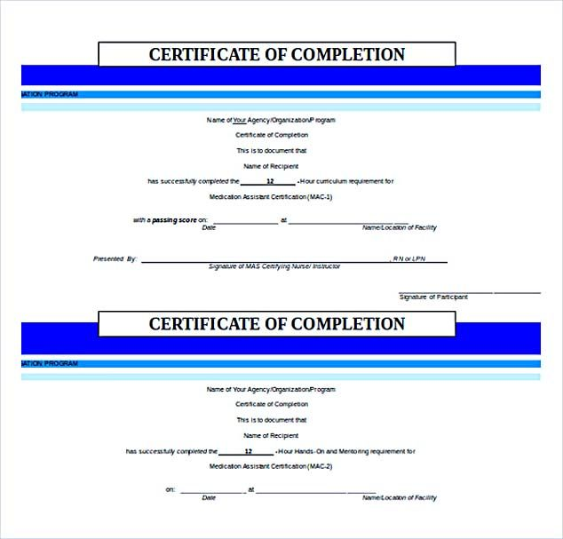 Certificate of Completion Free Word Download , Selecting - certificate templates word