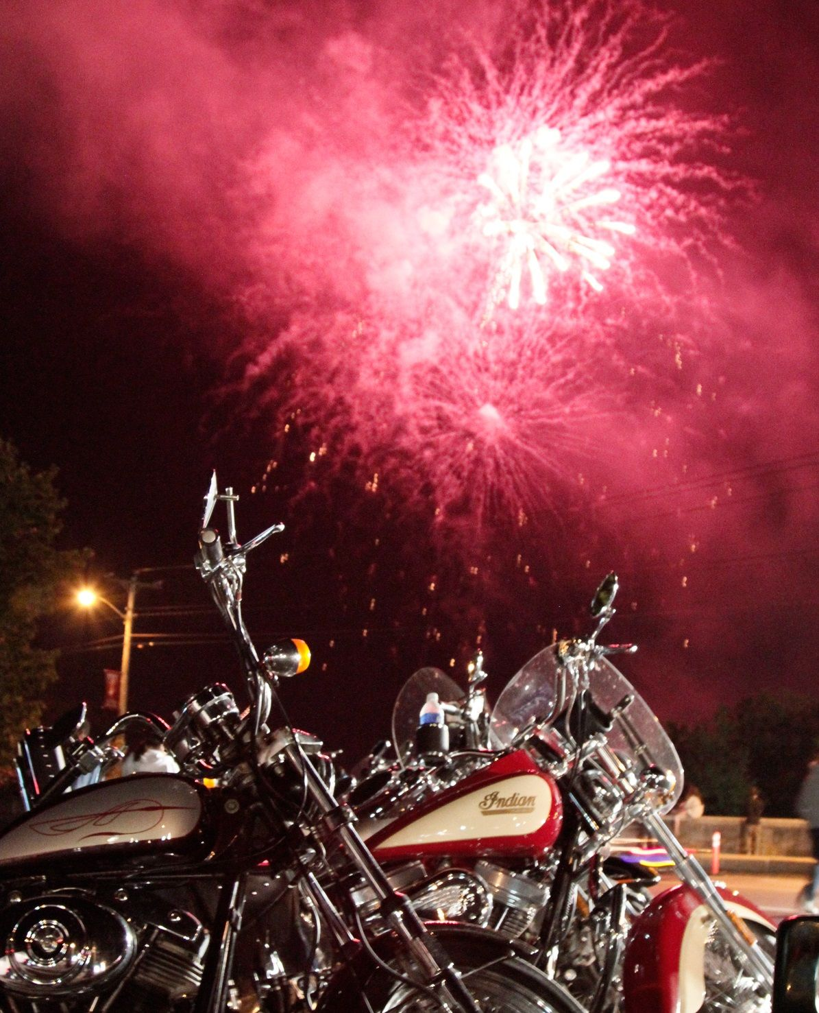 4th Of July Fireworks And Motorcycles Stars Amp Stripes