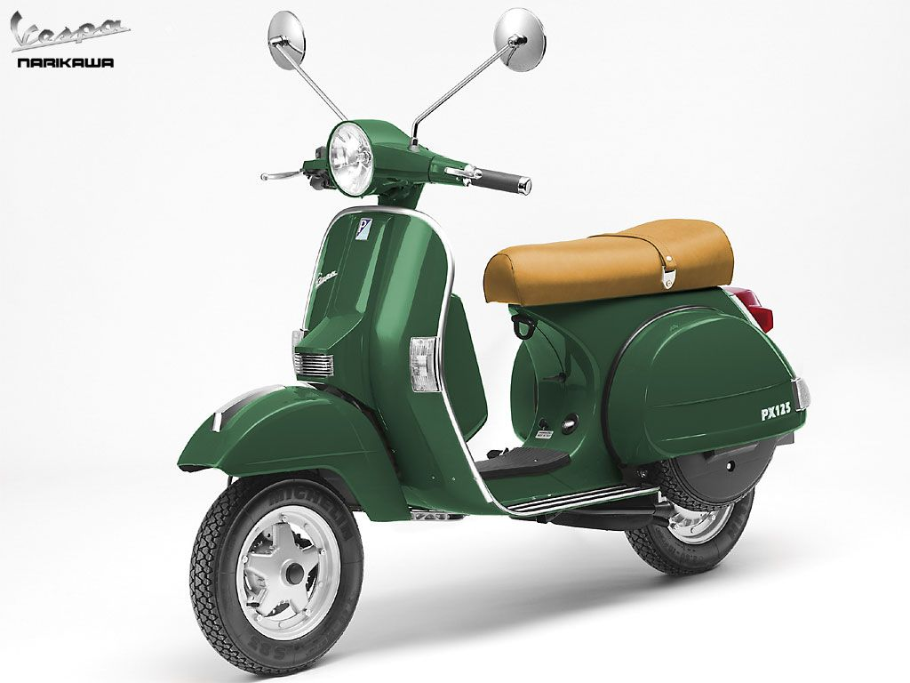 Vespa px 125 green color photos pictures gallery for Vespa decoracion