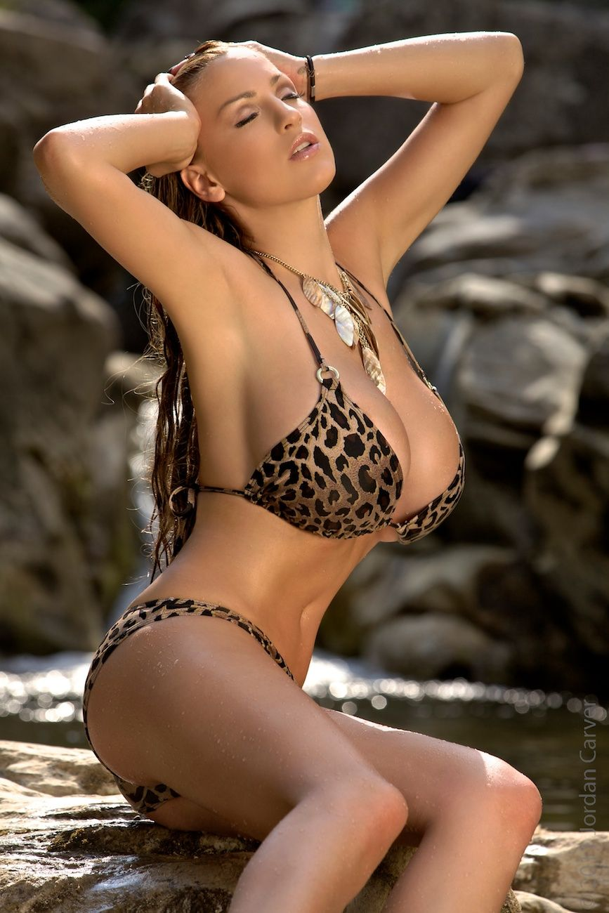 Big shower girl in bikini