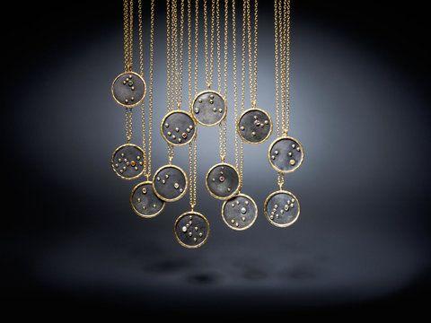 Satya Jewelry Gold Birthstone Zodiac Necklace