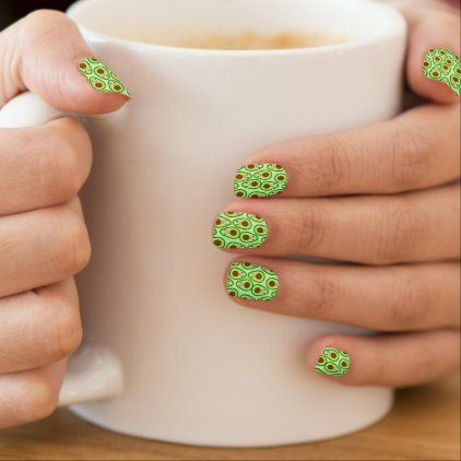 Cute Avocado Minx Nail Art | Zazzle.com