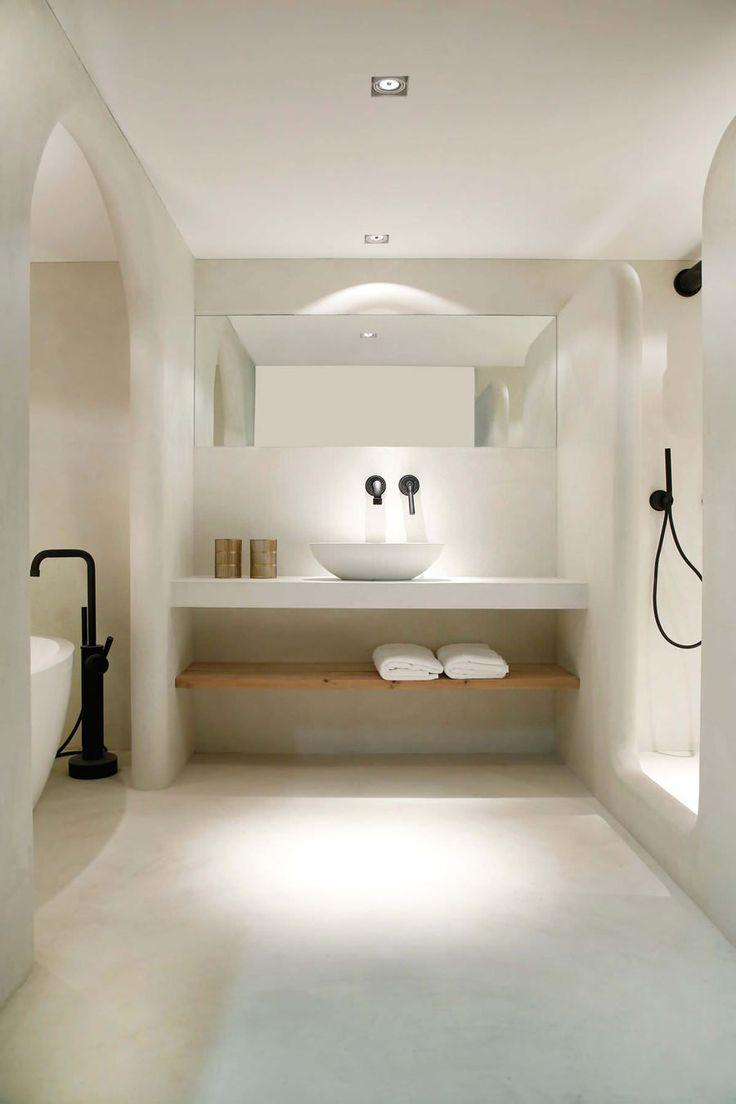 Superbe Salle De Bain En Maconnerie Exemple Des Qualites De Ciment Avec Lesquelles Vous Pouvez En 2020 Salle De Bain Design Design Moderne De Salles De Bains Interieur Salle De Bain