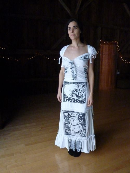 T-shirt wedding dress from Generation T (idea for costume for skit)