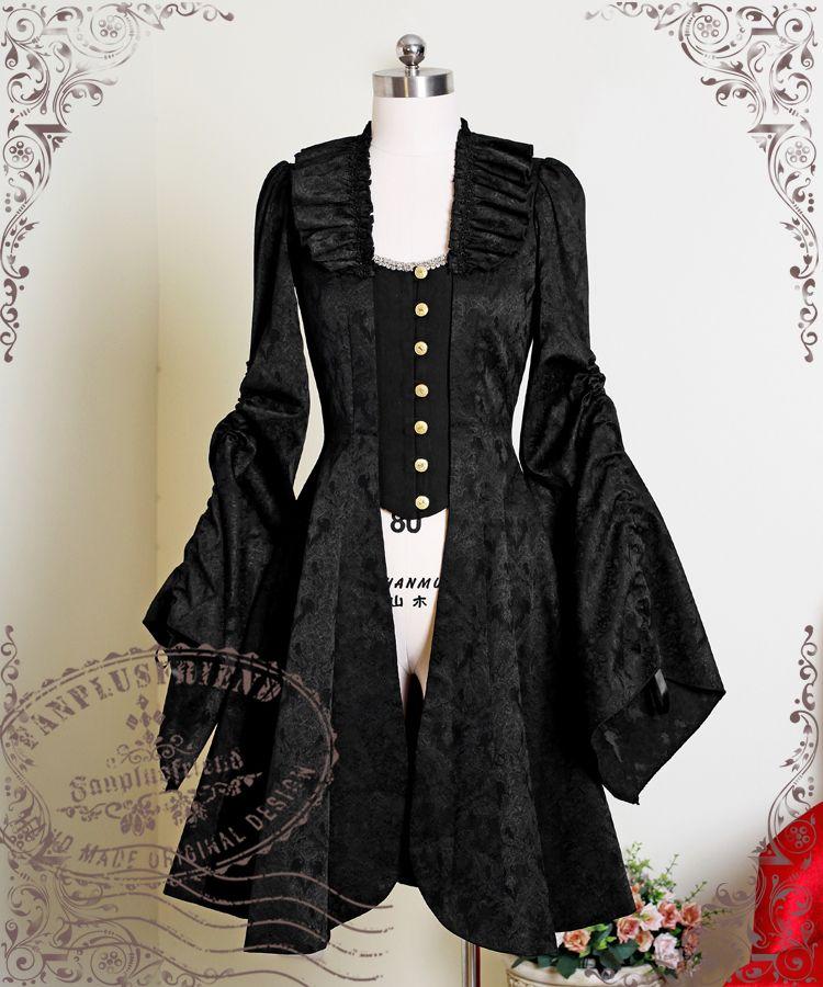 Ten O'Clock Cinderella, Rococo Lolita Elegant Gothic Jacquard Cotton False 2pcs Jacket