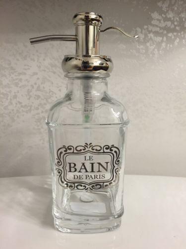 BELLA LUX Parisian Glass Liquid Pump Soap Dispenser Le ...
