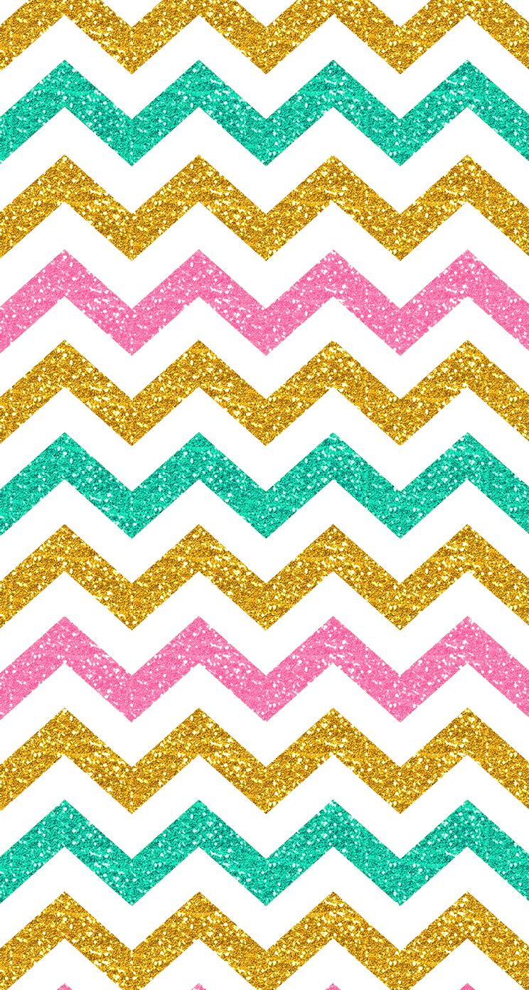 Pastel Glitter Chevron Iphone Wallpaper Spring