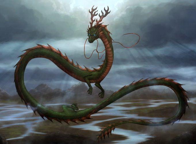 Korean Dragons Mythology: Imoogi-Korean Water Serpent. A Hornless Ocean Dragon