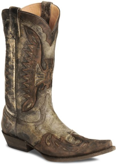 b7a4b8f6ca1 Stetson Distressed Eagle Cowboy Boots - Pointed Toe available at ...