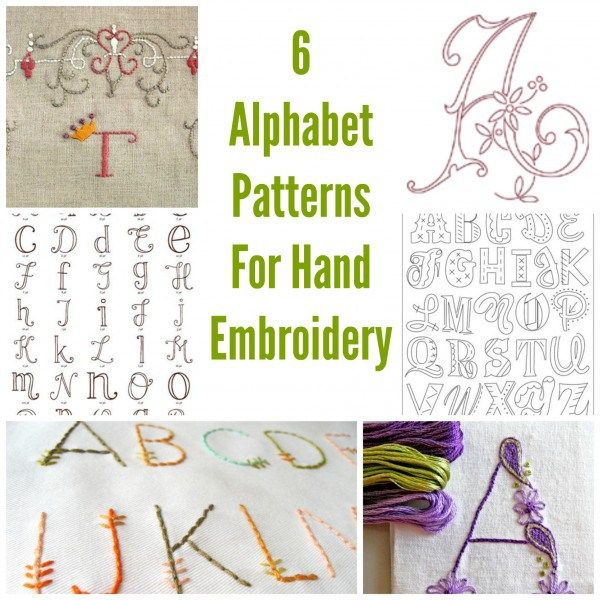 6 Alphabet Patterns For Hand Embroidery (Needlework News   Hand ...