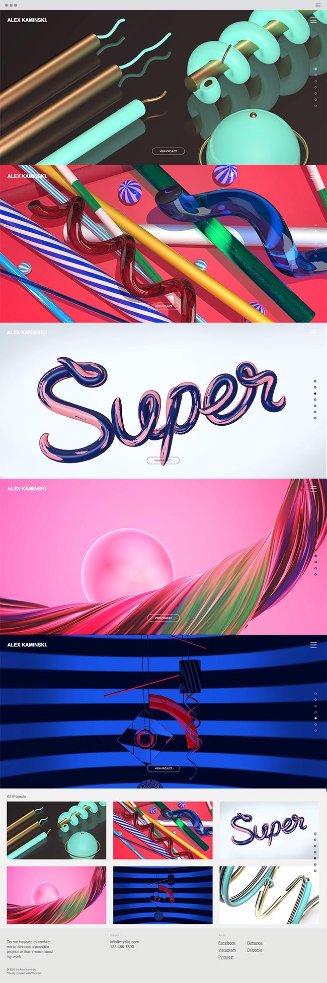 3D Designer Portfolio Website Template Portfolio website