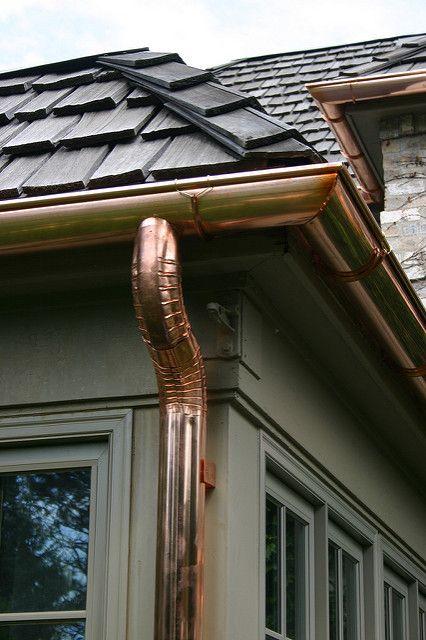 Copper Gutters House Exterior Copper Gutters Gutters