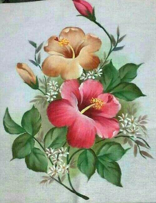 Clara Arce Pintar Pintura En Tela Flores Pintura Textil Y