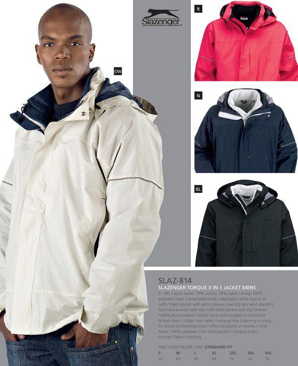 Slazenger Torque 3 in 1 Jacket for Men. #mensjacket #slazenger ...