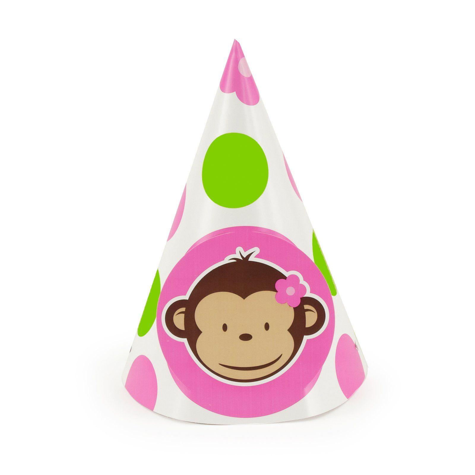 Pink Mod Monkey Cone Hats , 66913