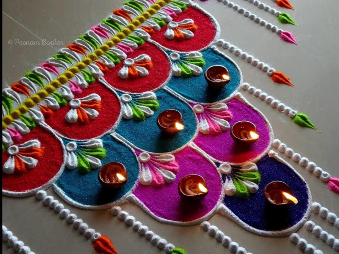 Beautiful and unique rangoli for festivals Simple Craft