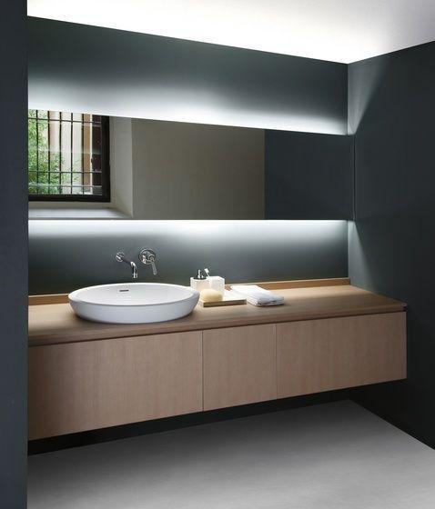 tiras led en los hogares baño #tirasdeled iluminacion Pinterest